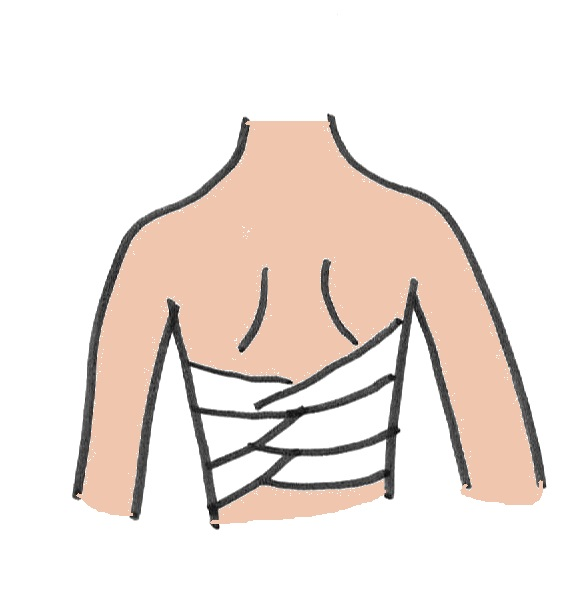 How to wrap/bind your chest by Sarashi part-1