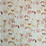 Manhattaner's Heap up Cat print cotton fabric