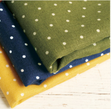 No.1015 Linen 100% Polka dot pattern