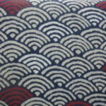 1109NJ   Like Indigo WEAVE seigaiha japanese pattern Fabric 11M