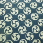 1110NJ   Like Indigo MITSUDOMOE Japanese traditional pattern fabric 11M