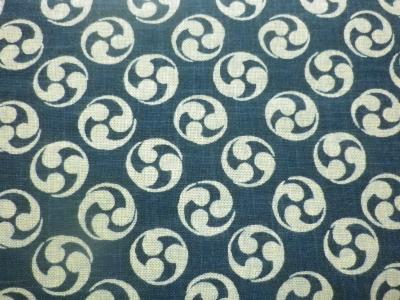 1110NJ   Like Indigo MITSUDOMOE Japanese traditional pattern fabric 11M
