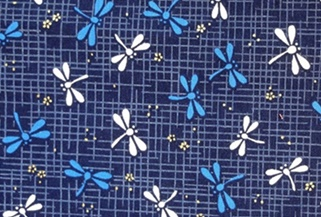 HJ2011 Dragonfly TONBO insects pattern cotton fabric Japan