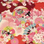 No.1041 CHIRIMEN Crape Japanese pattern wholesale fabric 12M