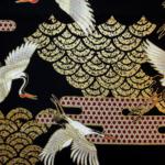 Protected: HJ2001 CRANE TSURU japan cotton fabric Gold & Silver 36M