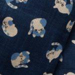 1126NJ sleeping CATs  animal like indigo Japanese cotton wholesale blue 11M
