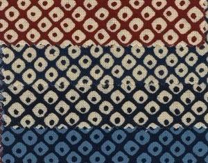 1127BR-4 printed KANOKO Shibori pattern japan traditional fabric wholesale 36M (Sevenberry)