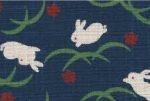 1127NJ Rabbit Usagi animal pattern Japanese cotton fabric 11M wholesale