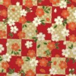 1132BR-A Like Chiyogami japanese cotton fabric Sakura checker 36M wholesale (Sevenberry)