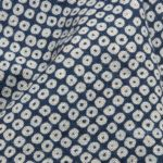 1135NJ Printed Kanoko traditional Japanese pattern like indigo fabric 11M