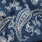 1136NJ Like indigo Paisley pattern Japan cotton fabric wholesale 11M
