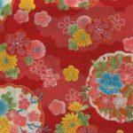 1137BR-A Yukiwa snow Japanese pattern gorgeous fabric 36M (Sevenberry)