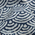 1138NJ Japanese Wave pattern traditional cotton like indigo wholesale fabric 11M