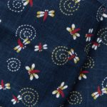 1141NJ like indigo Dragonfly insects pattern wholesale 11M