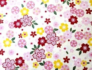 HJ2035 Sakura japanese flower pattern cotton fabric wholesale 36M