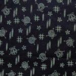 HJ2040 Kasuri printed pattern cotton fabric japan wholesale 36M