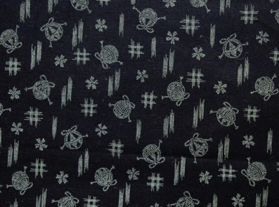 HJ2040 Kasuri printed pattern cotton fabric japan wholesale 36M