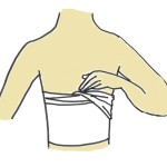 How to wrap/bind your chest by Sarashi part-2 (not folded)