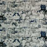 Manhattaner's Crowd cats print cotton fabric