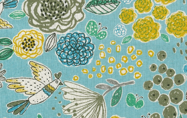 KC5013 BIRDS & Flowers cotton/linen japan fabric (sell by the roll) 14M