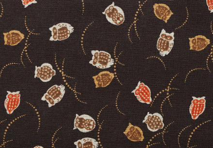 1126BR-3 OWL japanese pattern Sheeting cotton fabric 10M good fortune (sevenberry)