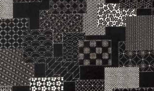 1104NJ Printed SASHIKO Japanese pattern Fabric 5M sell by the roll(Olympus)