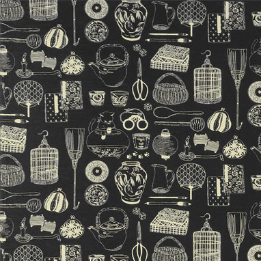 1105NJ Japanese tools printed Fabric sell by the roll 5M