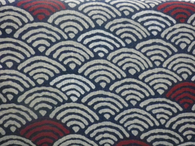 1109NJ   Like Indigo WEAVE seigaiha japanese pattern Fabric 11M