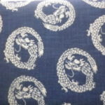 1114NJ Like Indigo DRAGON cotton wholesale fabric Japan