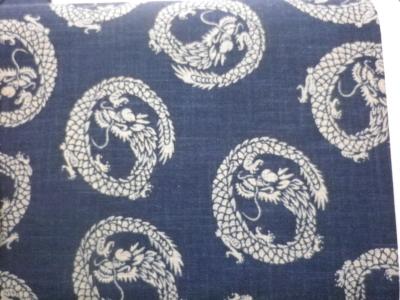 1114NJ Like Indigo DRAGON cotton wholesale fabric Japan