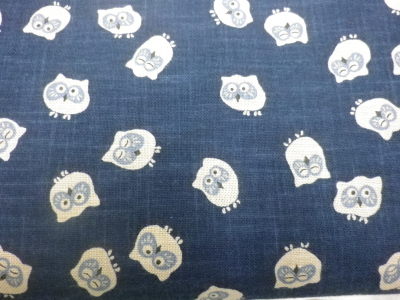 1115NJ Like Indigo OWL Kawaii japan wholesale fabric 11M