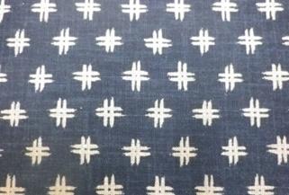 1120NJ Like Indigo IGETA pattern Japan fabric sell by the roll