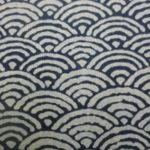 1121NJ Like Indigo SEIGAIHA wave cotton fabric Japan 11M