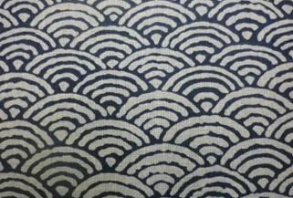 1121NJ Like Indigo SEIGAIHA wave cotton fabric Japan 11M