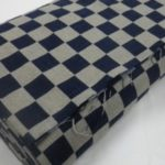 1122NJ  Like Indigo CHECKER Japanese cotton fabric sell by the roll