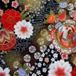 Detail  HJ2012 MARI ball Gold flowers japan fabric wholesale 36M