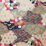 HJ2019 Kimono pattern FabricJapanese cotton 100% 36M