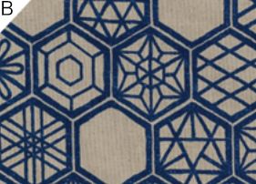 LOA-59000-2 KOKKA kikko pattern cotton80+Linen20 japan traditional fabric