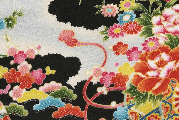 CR039 CHIRIMEN CREPE rayon japanese fabric 12M