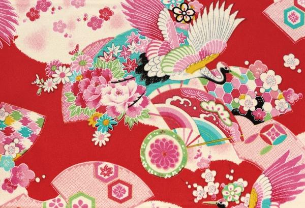 CR1040 CHIRIMEN CREPE Japanese pattern wholesale fabric 12M