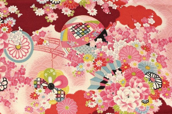 No.1041 CHIRIMEN Crape Japanese pattern wholesale fabric 12M