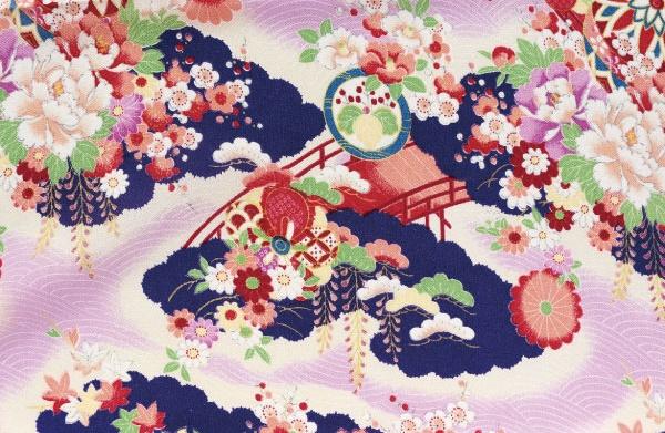 CR1042 CHIRIMEN CREPE Japanese pattern wholesale fabric 12M