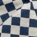 1122NJ  Like Indigo CHECKER Japanese cotton fabric sell by the roll 11M