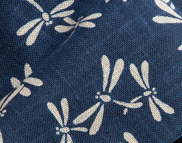 1124NJ Dragonfly Tonbo navy like Indigo insects wholesale fabric 11M