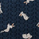 1126BR-2 Rabbit(usagi) japanese pattern Sheeting cotton fabric 10M good fortune (sevenberry)