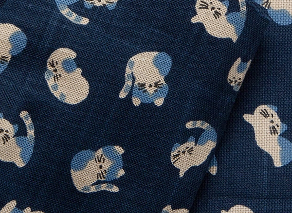 1126NJ sleeping CATs  animal like indigo Japanese cotton wholesale blue 11M