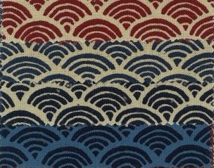 1127BR-1  Seigaiha pattern japan traditional cotton wholesale 36M (Sevenberry)