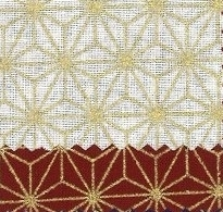 1130BR-B Gold ASANOHA japan traditional pattern wholesale fabric 38M (Sevenberry)