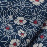 1131NJ Like Indigo Tsubaki Japanese flower wholesale fabric 11M