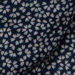 1132NJ Like Indigo cherry blossoms petals design cotton fabric whilesale 11M